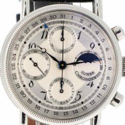 montre bracelet Chronoswiss lunar chronographe cadran