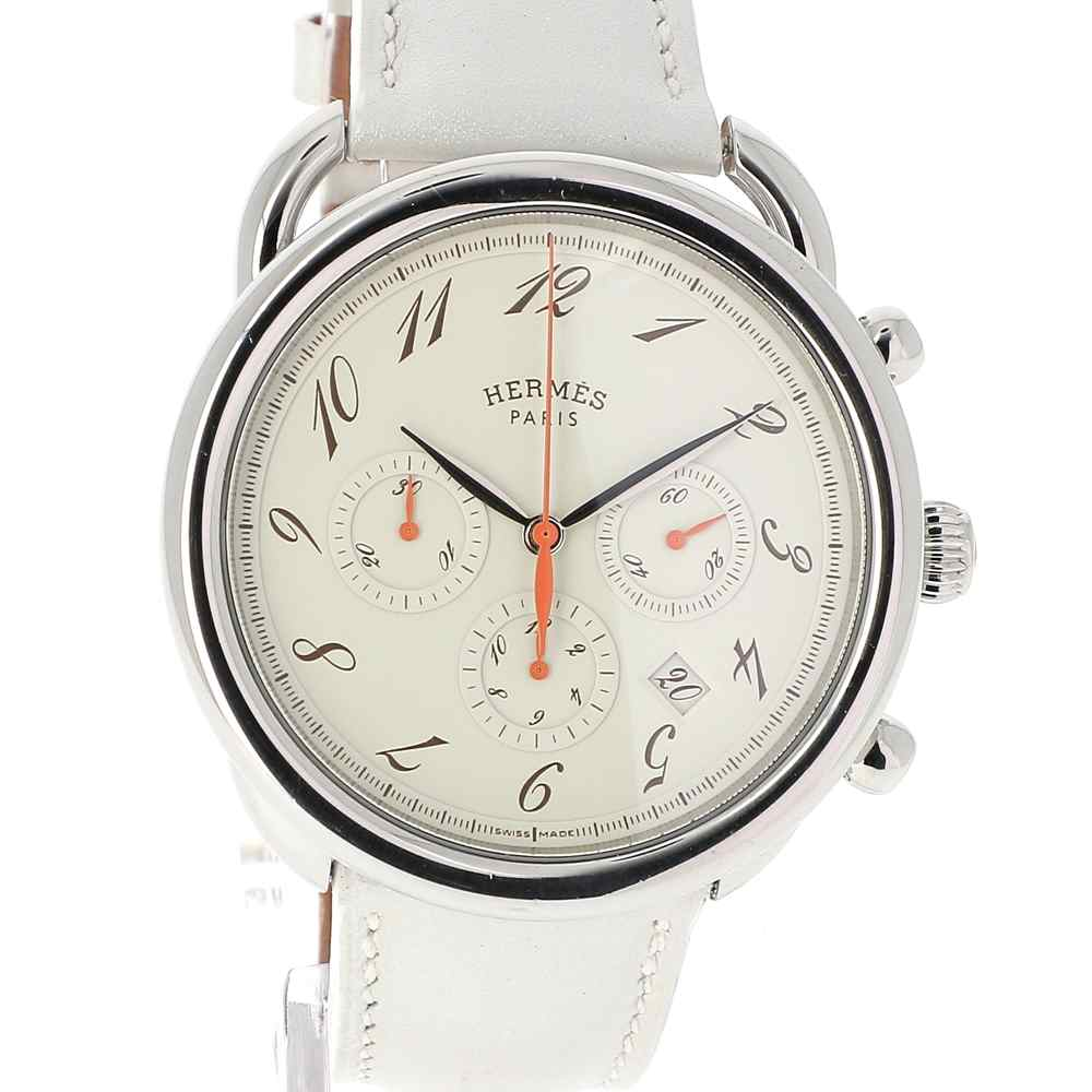 4a21d4a116fc8 Watch Hermès Arceau Chronograph second-hand - Buy online on Watch ...
