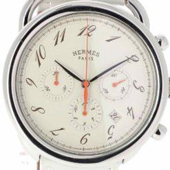 montre bracelet Hermes arceau chronographe cadran