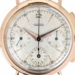 montre bracelet Jaeger chronographe cadran 3