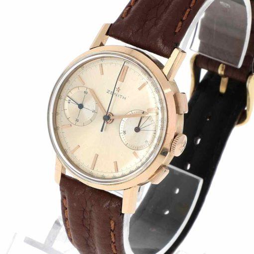 montre bracelet Zenith chronographe remontoir