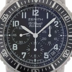montre bracelet Zenith el primero fly back cadran 3