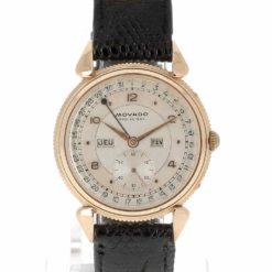 montre bracelet Movado triple date cadran 2