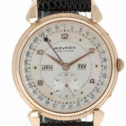 montre bracelet Movado triple date cadran 3
