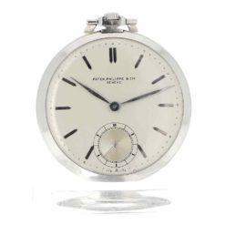 montre de poche Patek Philippe platine cadran