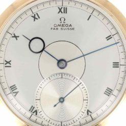 montre de poche Omega cadran