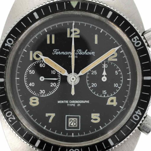 montre bracelet Fernand Pechoin chronographe cadran 3