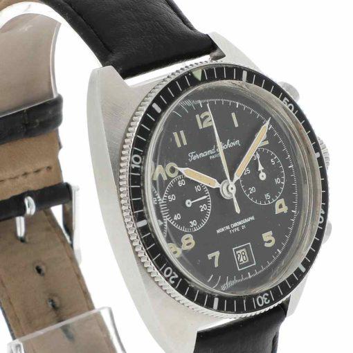 montre bracelet Fernand Pechoin chronographe lunette