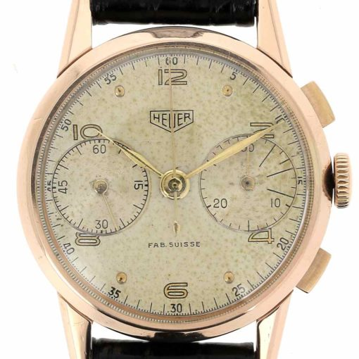 montre bracelet Heuer pre carrera cadran 3