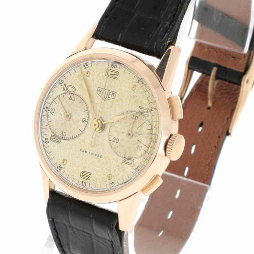 montre bracelet Heuer pre carrera remontoir