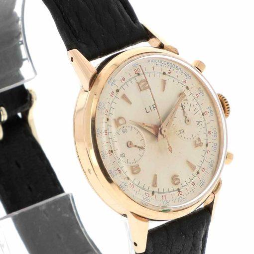 montre bracelet Lip chronographe R106 lunette