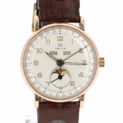 montre bracelet Omega cosmic triple quantieme lune cadran