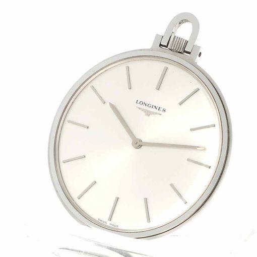montre de poche Longines acier cadran 2