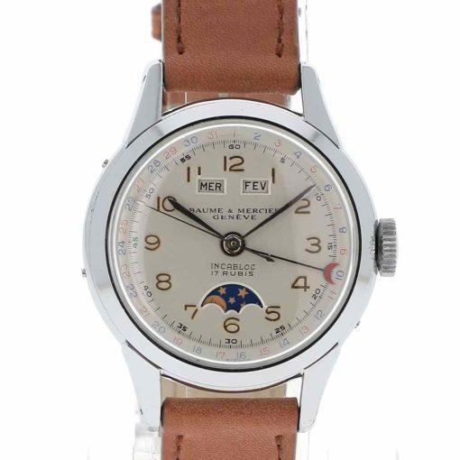 montre bracelet Baume & Mercier triple quantième cadran 2