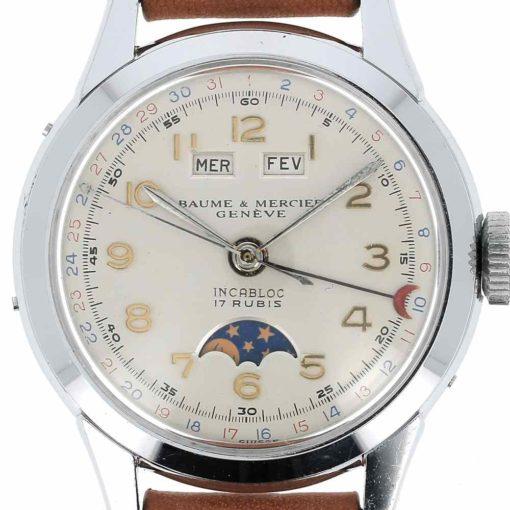 montre bracelet Baume & Mercier triple quantième cadran 3
