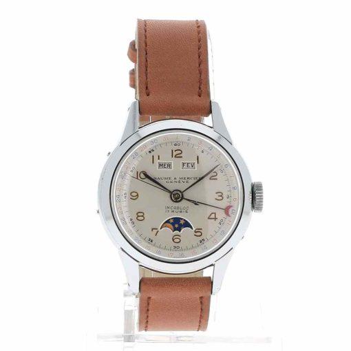 montre bracelet Baume & Mercier triple quantième cadran