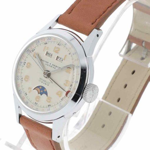 montre bracelet Baume & Mercier triple quantième remontoir