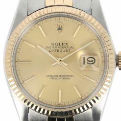 montre bracelet Rolex oyster perpetual date or acier cadran