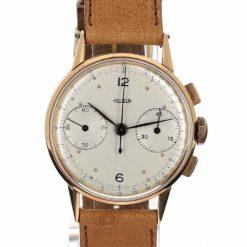 montre bracelet Jaeger chronographe 2 compteurs cadran 2