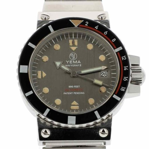 montre bracelet Yema navygraf 2 cadran 2