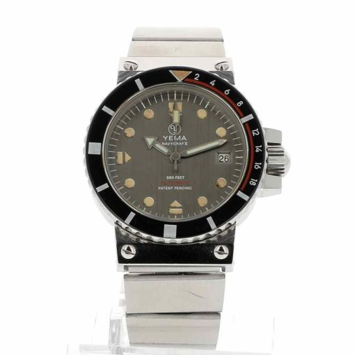 montre bracelet Yema navygraf 2 cadran