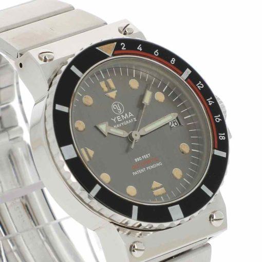 montre bracelet Yema navygraf 2 lunette