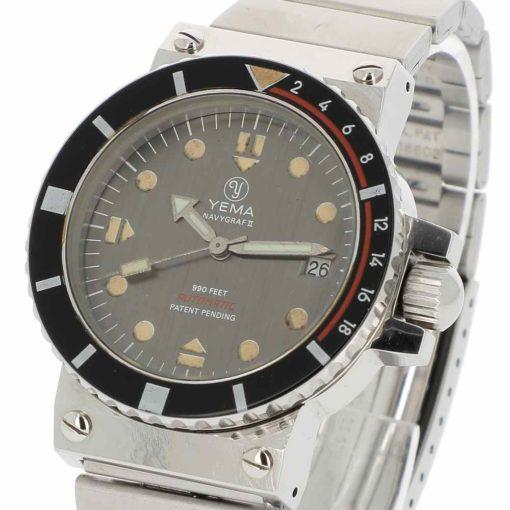 montre bracelet Yema navygraf 2 remontoir