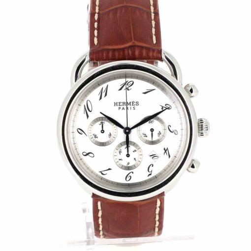 montre bracelet Hermes arceau chronographe automatique cadran 2