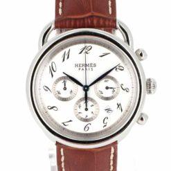 montre bracelet Hermes arceau chronographe automatique cadran