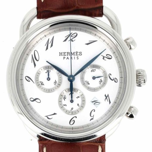 montre bracelet Hermes arceau chronographe automatique cadran 3
