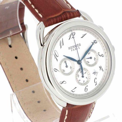montre bracelet Hermes arceau chronographe automatique lunette