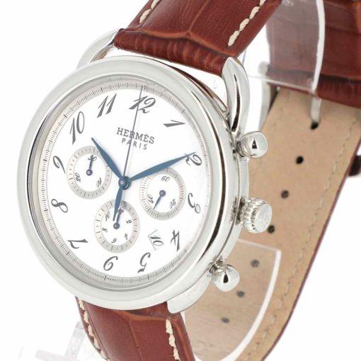montre bracelet Hermes arceau chronographe automatique remontoir