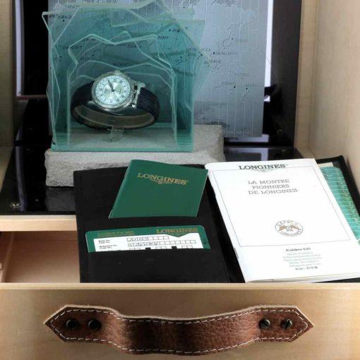 montre bracelet Longines pionniers papiers