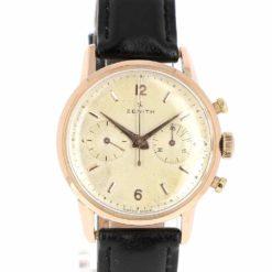 montre bracelet Zenith chronographe etanche cadran 2