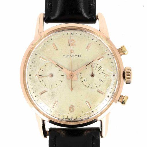 montre bracelet Zenith chronographe etanche cadran 3