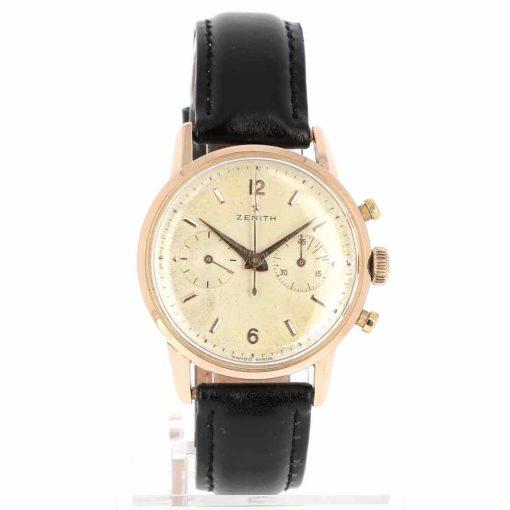 montre bracelet Zenith chronographe etanche cadran