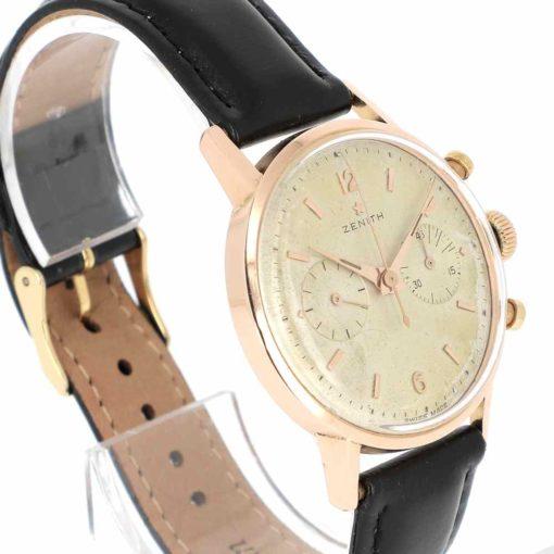 montre bracelet Zenith chronographe etanche lunette