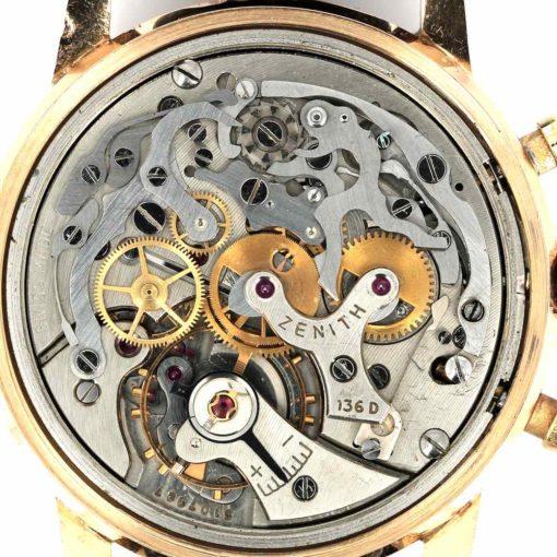 montre bracelet Zenith chronographe etanche mouvement