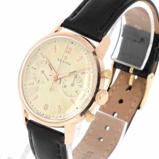 montre bracelet Zenith chronographe etanche remontoir