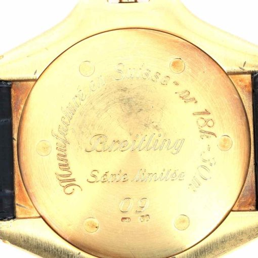 montre bracelet Breitling serie limitee fond