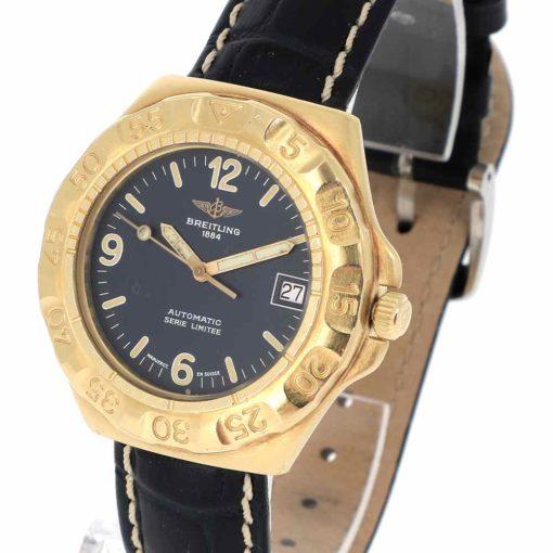 montre bracelet Breitling serie limitee remontoir