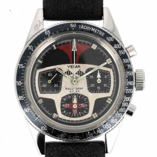 montre bracelet Yema rallygraph cadran 3