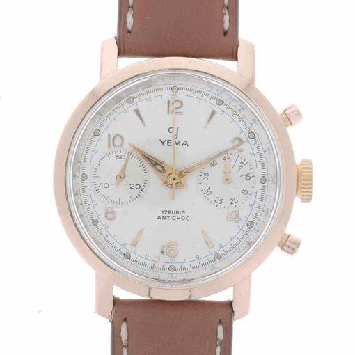 yema chronographe or devant