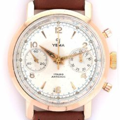 yema chronographe or cadran